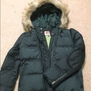 Juicy Couture emerald puffer - S
